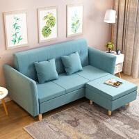 亿家达 布艺沙发 小户型客厅整装双人沙发组合可折叠经济型沙发床