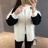 针织衫开衫外套女装春装长袖2018新款潮韩版宽松短款学生百搭毛衣