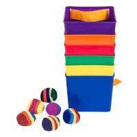 幼儿园体育户外游戏玩具 感统训练水桶扔沙包运动会体智能团队拓展