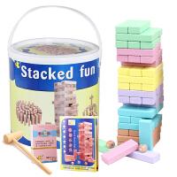 2018052709055532654粒叠叠乐数字叠高层层叠抽抽乐积木儿童力桌面游戏玩具