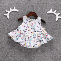 婴童装婴儿夏装背心宝宝百搭衣服小女孩公主无袖上衣薄