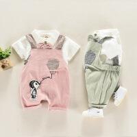 宝宝套装1一3岁潮婴童夏季衣服6婴幼儿外出服短袖两件套小童夏装
