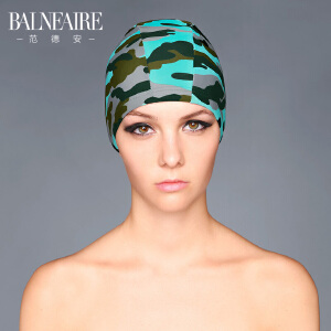 范德安长发护耳泳帽女 成人大号短发布游泳帽子海边防晒游泳装备