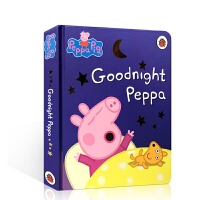 英文原版 Peppa Pig Goodnight Peppa 晚安佩奇 睡前故事 佩佩猪 粉红猪小妹 小猪佩奇 纸板书