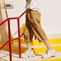 小虎宝儿男童休闲短裤2020夏装新款儿童七分裤子中大童韩版童装潮
