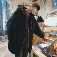 男冬季外套男士中长款韩版宽松加厚面包服男冬装服