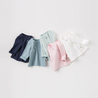[2件3折价:53.1]戴维贝拉春装新款男女童T恤宝宝纯色上衣DBW8213