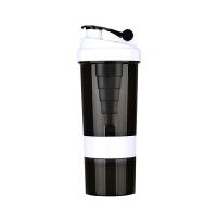 神蛋白粉摇摇杯大容量男士塑料杯健身奶昔运动水杯果汁三层便携杯子带刻度奶茶杯搅拌杯