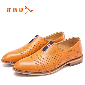 红蜻蜓男鞋商务休闲皮鞋秋冬鞋子男WZA63323