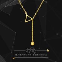 周大福 17916系列几何图形22K金项链套链吊坠E122283>>定价