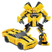 大黄蜂变形金刚模型儿童拼插积木玩具兼容乐高儿童节礼物 31002黄蜂金刚