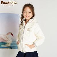 【3件4折 到手价:319元】Pawinpaw卡通小熊童装新款冬女童白鸭绒羽绒服