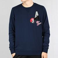 Adidas/阿迪达斯男套头衫冬季新款圆领休闲运动卫衣EI4760