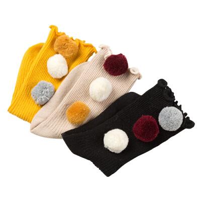 kk树2017新款袜子儿童棉袜可爱女童堆堆袜秋冬保暖小孩宝宝袜子潮保暖透气 吸汗防臭
