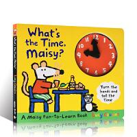 英文原版绘本进口 What's the Time, Maisy? 时钟书 认识时间表达 儿童低幼读物童书