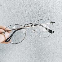 新品金属框架平光镜男士防辐射眼镜日系复古青年情侣圆框眼镜