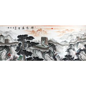 王高昕《锦绣万里》2.4米巨幅 著名画家 有作者本人授权
