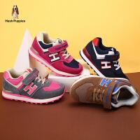 【179元任选2双】暇步士童鞋新款正品男童反毛皮运动鞋女童舒适轻便休闲鞋P61139