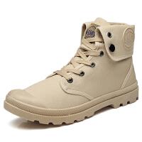 沙漠靴男士马丁靴英伦风中帮工装靴户外男靴子高帮男鞋冬季潮复古