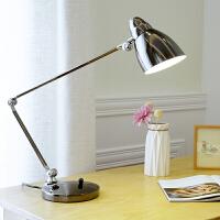 简约创意金属阅读护眼LED调光卧室书桌折叠长臂台灯
