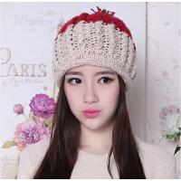女 秋冬季天大球球帽情侣帽 全手工韩版国粗毛线帽