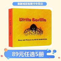 英文原版绘本0 3岁 Little Gorilla 小猩猩 纸板书 汪培�E第1阶段 Ruth Bronstein 常青