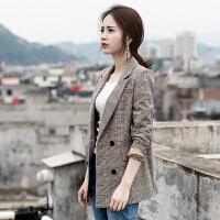 【买了都说好】推荐:★★★★★ 格子西装外套女韩版2020春装新款休闲显瘦气质女士长袖短款小西服