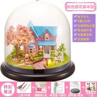 diy小屋普罗旺斯摩天轮玻璃球手工模型拼装房子音乐盒八音盒别墅