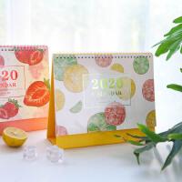 简约创意2020水果桌面台历可爱少女心学习计划记事备忘站立式日历