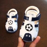 夏季新款男宝宝学步凉鞋包头女童婴儿童亮灯鞋小童鞋