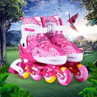 3-5-6-10岁溜冰鞋儿童全套装男女旱冰鞋滑冰鞋轮滑鞋可调闪光