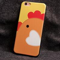 iphone6手机壳苹果6S plus硅胶套挂绳包卡通鸡浮雕 L8