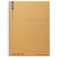 日本maruman美乐麦|spiral 牛皮纸封面螺旋笔记本 记事本A4 80页