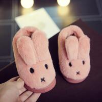 儿童棉拖鞋冬季男女童宝宝毛毛拖鞋室内包跟保暖毛绒防滑厚底棉鞋