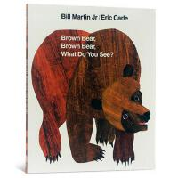 【现货】Brown Bear, Brown Bear, What Do You See? 英文原版儿童书 棕熊,棕熊,