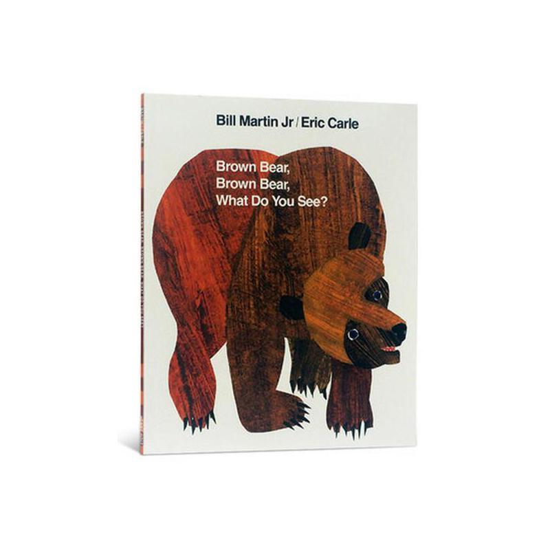 【现货】英文原版  棕熊,棕熊,你看到了什么?卡尔  Brown Bear, Brown Bear, What Do You See? 2-5岁低幼启蒙 大开本平装绘本 国营进口!品质保证!