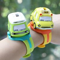 抖音网红同款儿童手表玩具车音乐巴士迷你合金耐摔惯性小汽车男孩