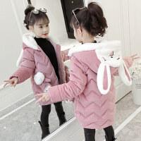 【到手价:134元】童装2019冬装新款女童小兔灯芯绒棉衣儿童加厚棉袄宝宝保暖棉服