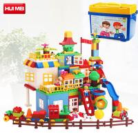 惠美积木兼容乐高大颗粒拼装主题系列男孩女儿童玩具拼插益智1-2-6周岁HM183