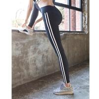高腰速干健身裤女弹力紧身显瘦透气运动裤外穿跑步长裤瑜伽裤 黑色裤子