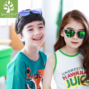 KK树儿童眼镜太阳镜宝宝墨镜男童女童眼镜小孩个性百搭潮