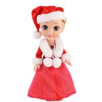 挺逗 冰雪奇缘 会唱歌说话的芭比娃娃 智能套装 女孩玩具 圣诞冰雪公主66032