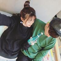 情侣装卫衣春装2017新款韩版假两件学院风宽松外套男女学生班服潮