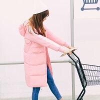 慈姑冬装棉衣女中长款加厚情侣装软妹学生冬季外套过膝防寒羽绒