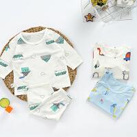 【抢购价:22.8元】儿童睡衣夏季薄款男女童套装儿童空调服宝宝空调服