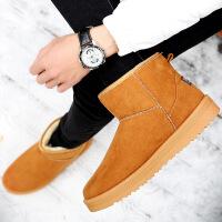 【冬季新品】2016冬季男士雪地靴短靴低筒加绒加厚保暖棉靴韩版潮流男靴子M8584DRJD