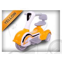儿童电动三轮车摩托车带音乐男女宝宝可坐充电2-6-8岁木兰 深桔红 7A电瓶