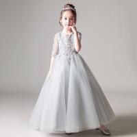 儿童礼服公主裙女童蓬蓬裙花童钢琴演出服小主持人生日走秀晚礼服