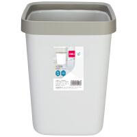 Deli/得力垃圾桶 厨房办公室家用 大号创意垃圾箱 无盖塑料 10L灰色