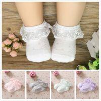 宝宝袜子花边女童公主袜婴儿松口网眼船袜薄